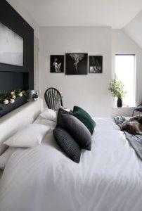 υπνοδωμάτιο κρεβάτι μινιμαλ decor