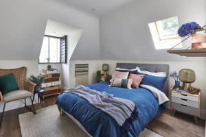 υπνοδωμάτιο κρεβάτι πλεκτή καρέκλα