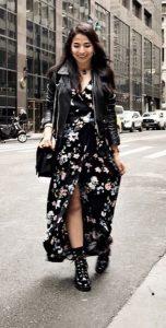casual γυναικεία outfits δερμάτινο μπουφάν