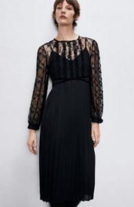 φόρεμα μαύρο με διαφάνεια