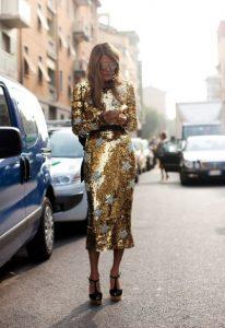 φούστα μπλούζα με χρυσές πούλιες φούστα παγιέτα Χριστούγεννα