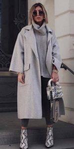 γκρι γυναικείο παλτό outfits