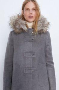 γκρι γυναικείο παλτό zara