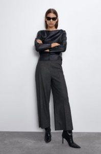 γυναικείο γκρι παντελόνι zara