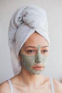 γυναίκα μάσκα αργίλου
