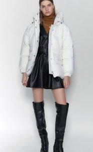 γυναικείο φουσκωτό λευκό μπουφάν