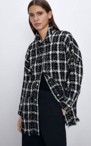 γυναικείο καρό παλτό zara
