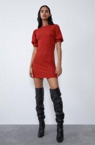 γυναικείο κεραμιδί πλεκτό φόρεμα