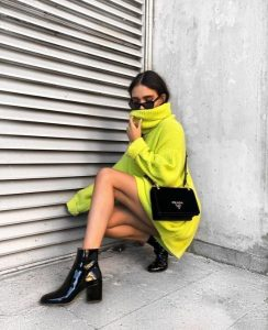 έντονο κίτρινο πουλόβερ πουλόβερ χειμώνα 2020