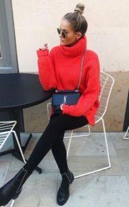 κόκκινο έντονο πουλόβερ