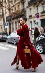 εντυπωσιακό κόκκινο φόρεμα για γιορτές
