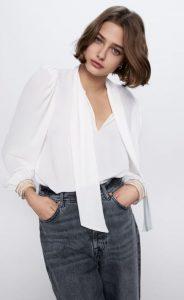 γυναικείο λευκό πουκάμισο zara