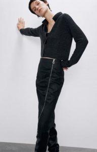 μαύρη φούστα pencil zara