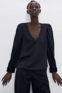 γυναικεία μαύρη μπλούζα zara