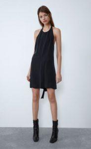 γυναικείο μαύρο εξώπλατο φόρεμα