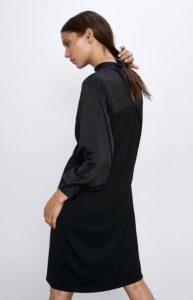 γυναικείο μαύρο φόρεμα zara