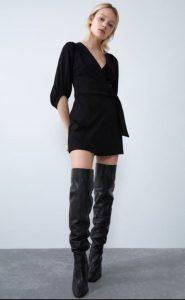 γυναικείο μαύρο φορμάκι zara