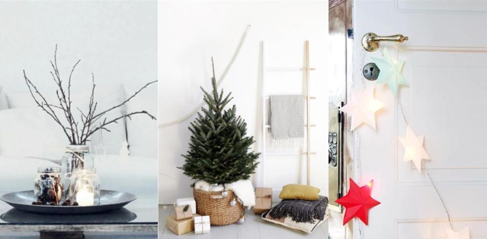 minimal Χριστουγεννιατικη διακόσμηση