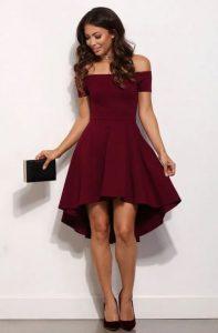 μπορντό επίσημο φόρεμα
