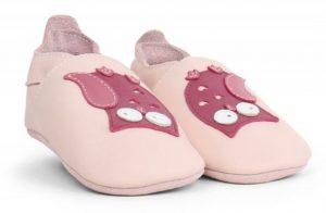 παιδικά παπούτσια bobux ροζ με κουκουβάγιες