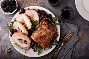 πιάτο με γαλοπούλα πρωτεΐνη μην πάρεις κιλά Χριστούγεννα