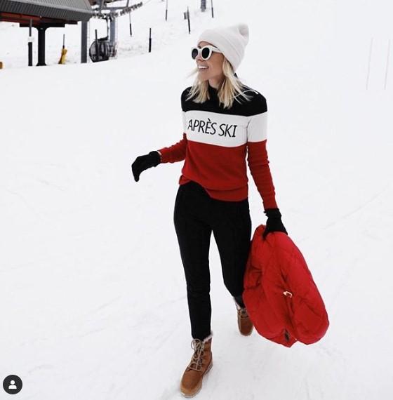 ζεστά ρούχα στιλ κατάλληλα για χιονοδρομικό