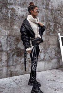 βινύλ μαυρο κολάν φορέσεις αρβυλάκι