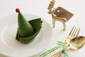 χριστουγεννιάτικες χαρτοπετσέτες καπέλο ξωτικού