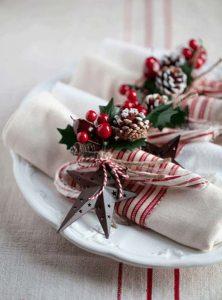 χριστουγεννιάτικες χαρτοπετσέτες γκι