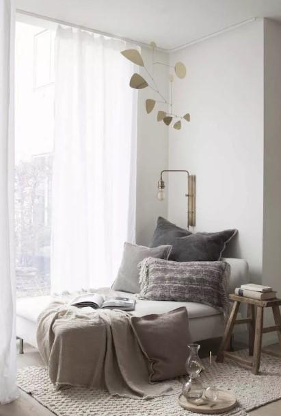 άνετο ανάκλιντρο μαξιλάρια ριχτάρι γωνία διάβασμα