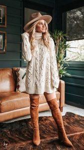 boho ντύσιμο με πουλόβερ