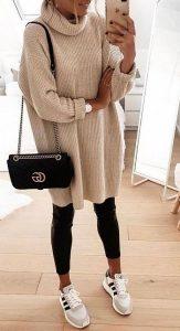 casual ντύσιμο δερμάτινο κολάν