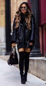 γυναικείο δερμάτινο μπουφάν outfits