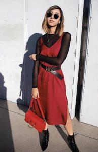 φόρεμα με διαφάνεια