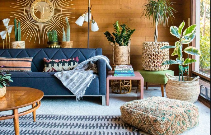 φυτά εσωτερικου χώρου, σαλόνι διακόσμηση, άνεση
