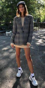 γυναικείο ντύσιμο σακάκι sneakers