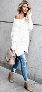 καθημερινό γυναικείο ντύσιμο με πουλόβερ