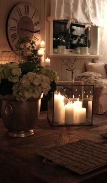 κεριά, διακοσμηση, άνεση, σαλόνι