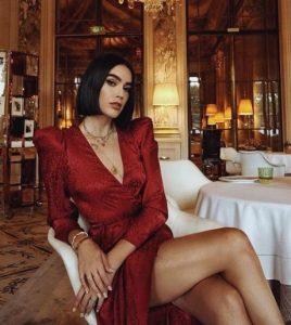 κόκκινο μίνι φόρεμα κρουαζέ