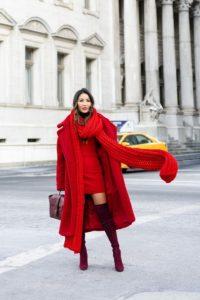 χειμωνιάτικα σύνολα με κόκκινο χρώμα