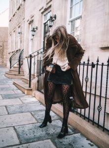 λεοπάρ καλσόν με τζιν φούστα