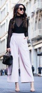 λευκή παντελόνα με διαφάνεια
