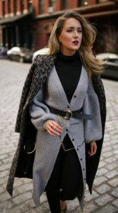 μαύρη ζιβάγκο μπλούζα γκρι ζακέτα φορέσεις ζακέτα στυλ