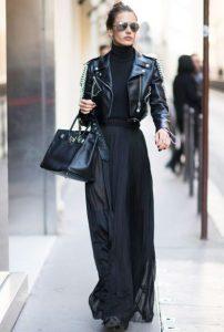 μαύρο δερμάτινο μάξι φούστα γυναικείο ντύσιμο άντρες ελκυστικά