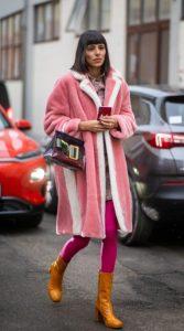 ροζ outfit με καλσόν