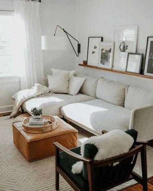 σαλόνι άσπρος καναπές