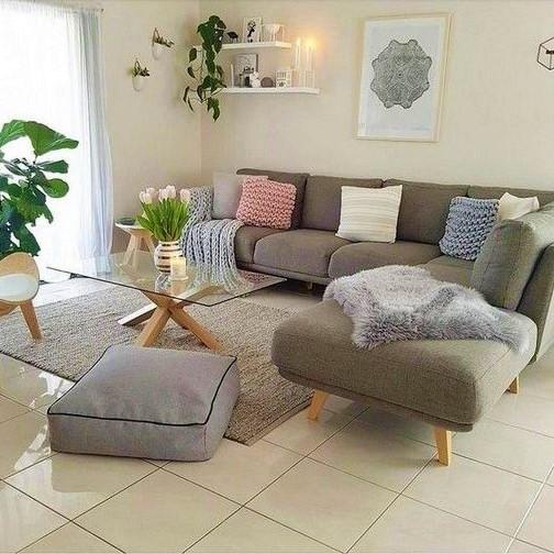 σαλόνι γωνιακός καναπές γυάλινο τραπέζι