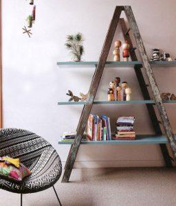 πως να κάνεις μια σκάλα με ράφια στο σαλόνι, πρακτικό