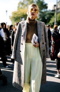 καρό παλτό ντύσιμο