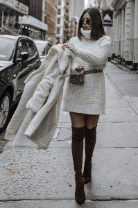 τσαντάκι μέσης φόρεμα σύνολο